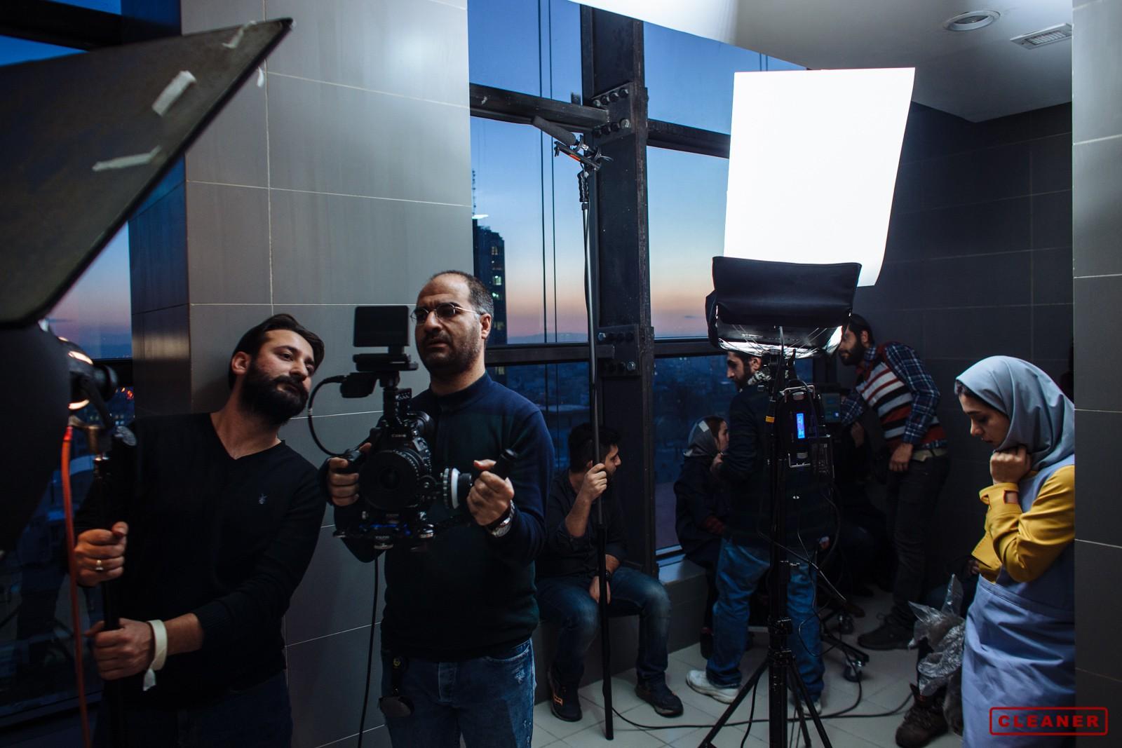 عکسهای پشت صحنه فیلم کوتاه کلینر