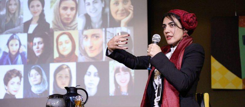 سخنرانی قصیده گلمکانی در دانشکاه ملی تایوان درباره فیلمسازان زن ایرانی