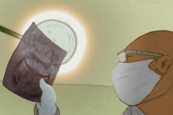 انیمیشن کوتاه جسم خاکستری به کارگردانی سمانه شجاعی